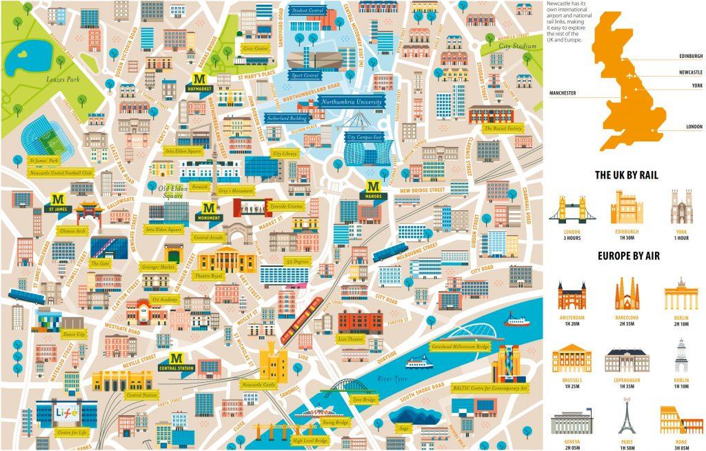 Newcastle žemėlapis